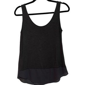 Maurices Charcoal Grey Casual Tank Top Blouse
